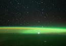 ISS: Leuchtende Atmosphäre