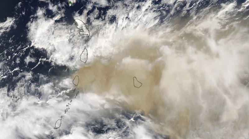 Aschewolke über der Karibik